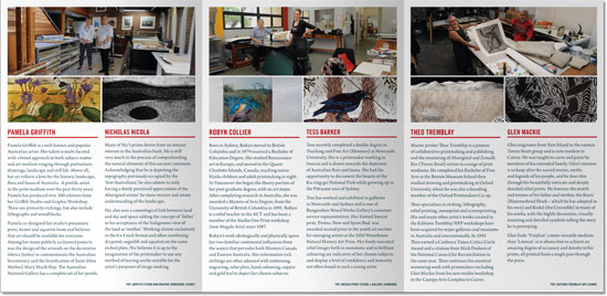 THE PRINTMAKERS exhibition brochure and catalogue