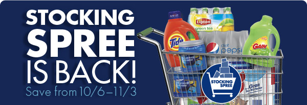 STOCKING SPREE IS BACK! Save from 10/6-11/3
